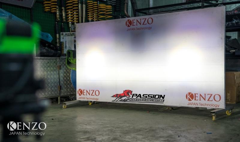 Đèn bi led kenzo zx6 chế độ pha