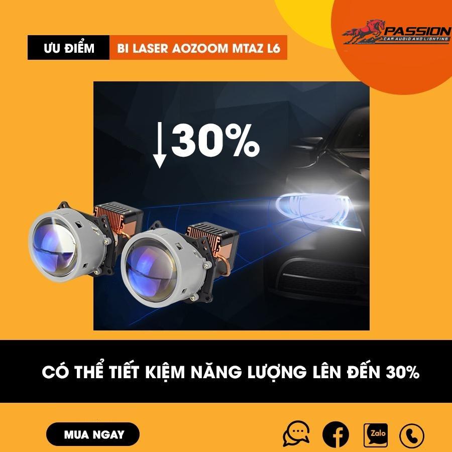 Đèn Bi Laser MT AZ L6 giúp bác tài tiết kiệm điện | Passion auto