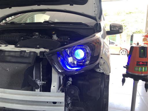 Đèn Bi Led MT AZ sau khi được lắp đạt trên xe