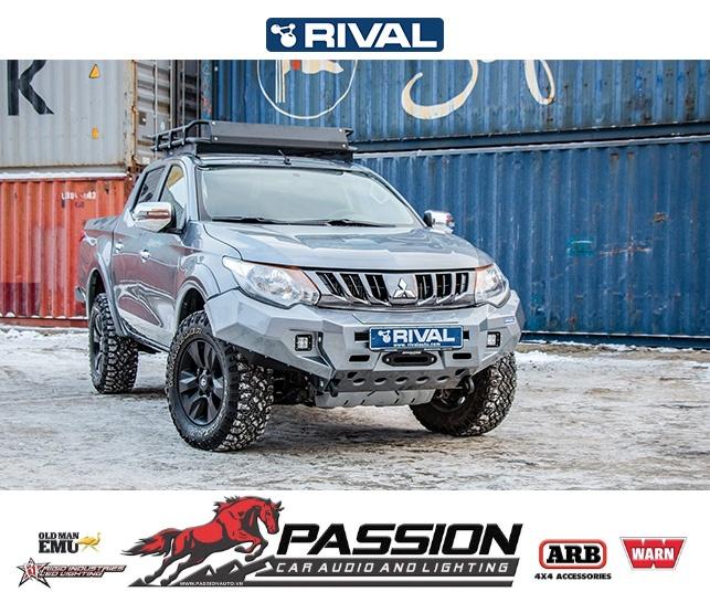 Giáp Bảo Vệ Gầm Rival Cho Xe Mitsubishi Triton Đời 2015 Trở Lên FULL KIT (4 PCS) | PassionAuto