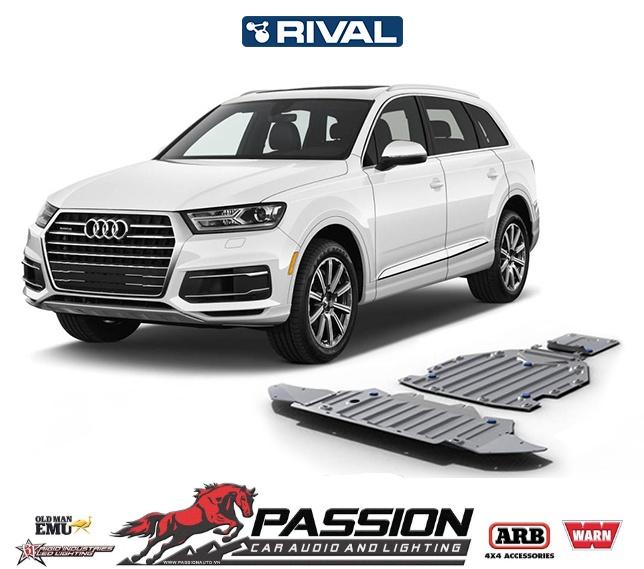 Giáp bảo vệ gầm xe, két nước, động cơ, hộp số Rival cho xe Audi Q7 sau 2015 (3 tấm) | PassionAuto