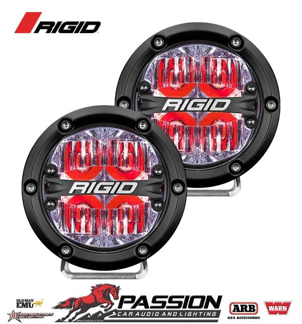Đèn Led Rigid 360-Series 4 inch Led Off-Road Drive Beam Cặp đèn nền màu đỏ | PassionAuto