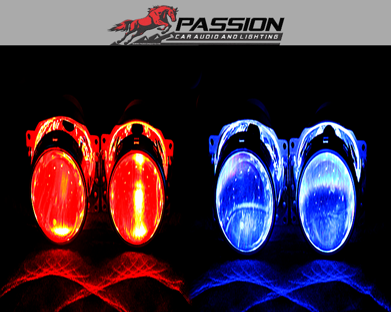 Vòng Đèn Mắt Quỷ Xanh - Đỏ cho ô tô   PassionAuto